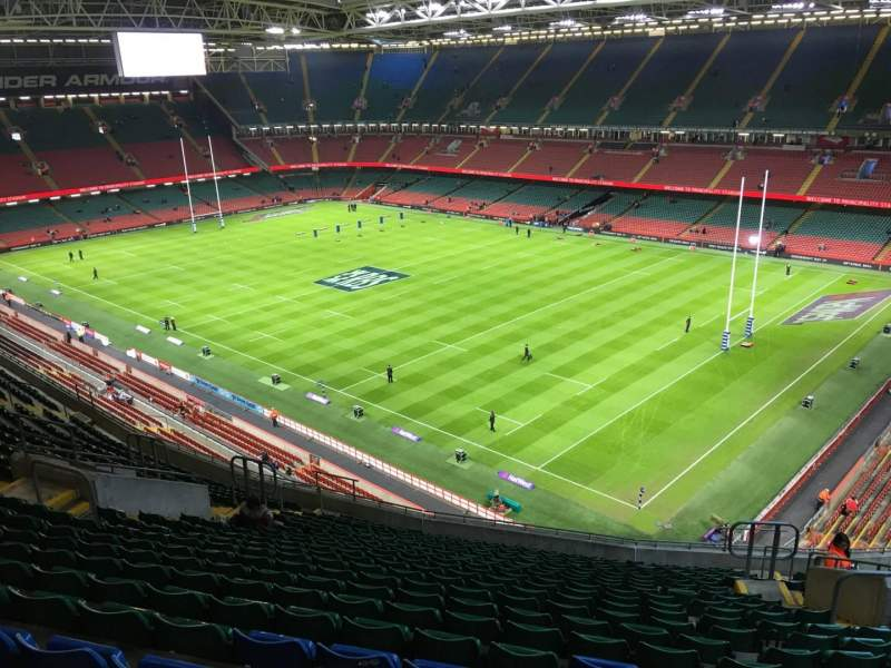 Principality Stadium, section: U25, row: 21, seat: 22