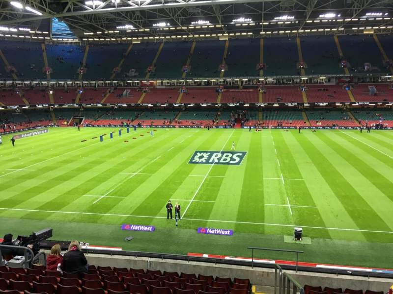 Seating view for Principality Stadium Section M29 Row 11 Seat 26
