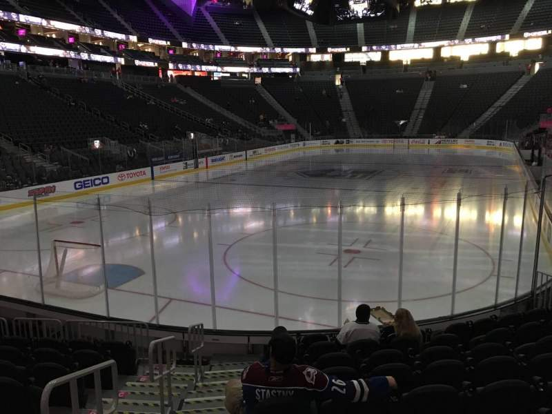 Seating view for T-Mobile Arena Section 2 Row J Seat 1
