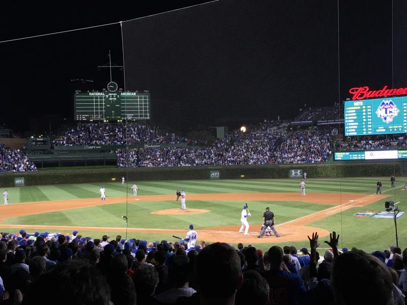 Seating view for Wrigley Field Section 117 Row 7 Seat 6