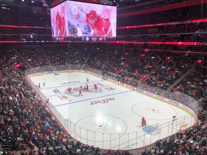 Seating view for Little Caesars Arena Section M5 Row A Seat 3