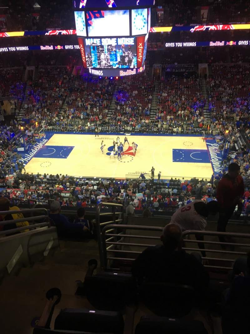 Seating view for Wells Fargo Center Section 202 Row 8 Seat 5