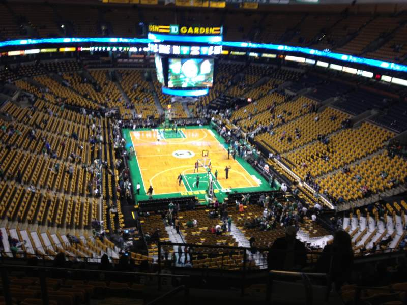 Td Garden Section Bal 310 Row 11 Seat 1 Boston Celtics Vs Philadelphia 76ers Shared By