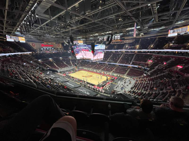 Seating view for Rocket Mortgage FieldHouse Section 206 Row 3 Seat 2
