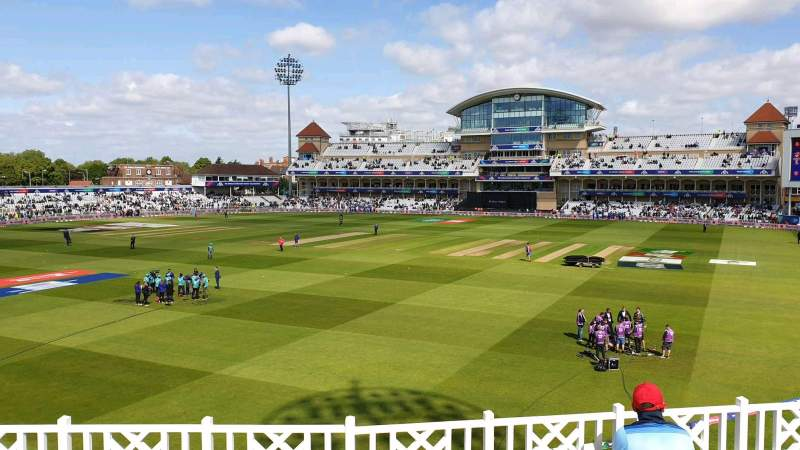 Seating view for Trent Bridge Section Hound Road Row E Seat 36