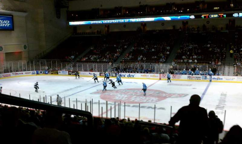 Seating view for Orleans Arena Section 115 Row Q Seat 18