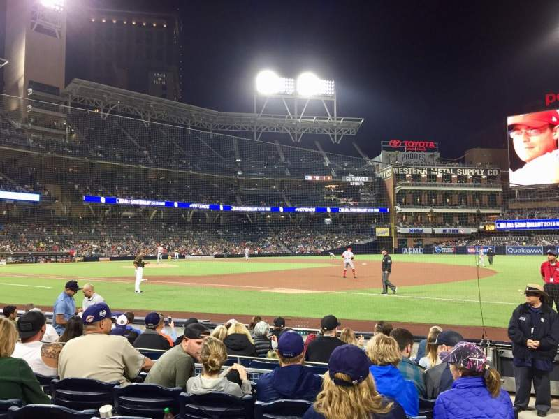 Petco Park, section: 113, row: 9, seat: 18