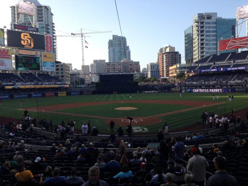PETCO Park, section: F, row: 1, seat: 4