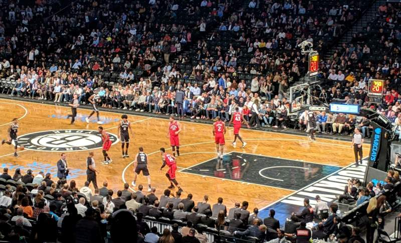 Seating view for Barclays Center Section 105 Row 5 Seat 2