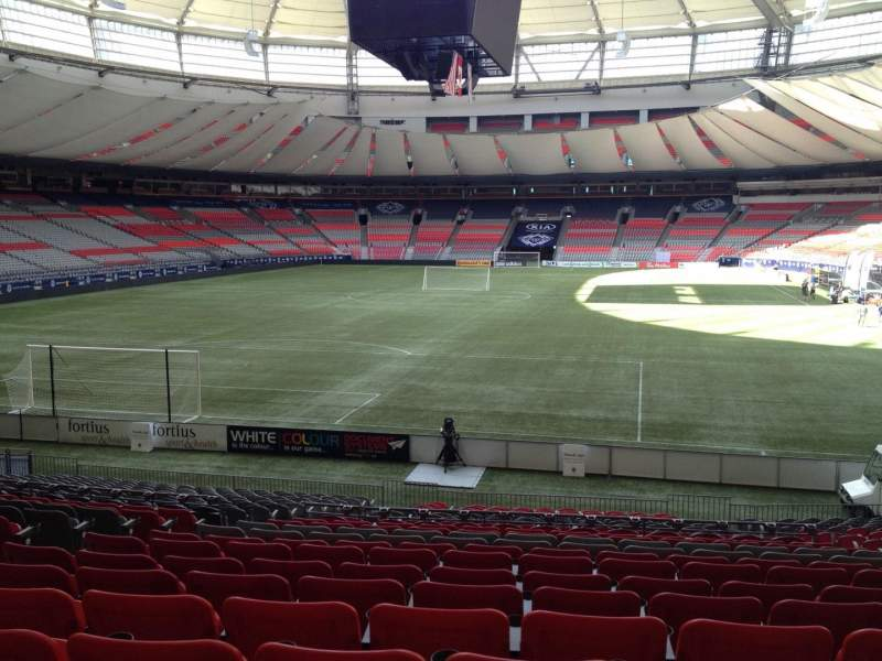 bc place section 226 row u seat 7 vancouver whitecaps. Black Bedroom Furniture Sets. Home Design Ideas