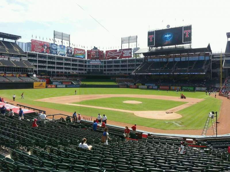 Seating view for Globe Life Park in Arlington Section 24 Row 21 Seat 2