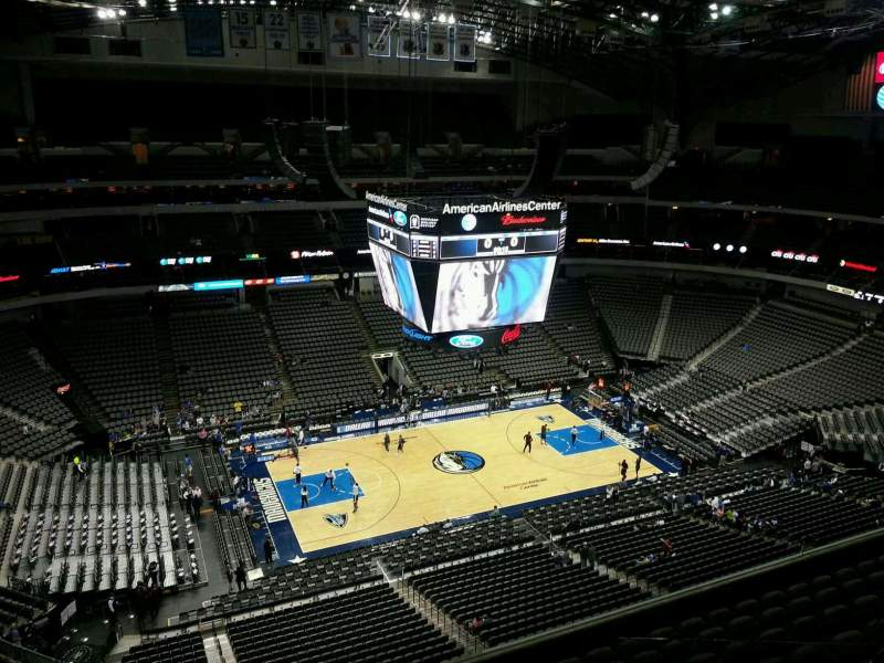 Seating view for American Airlines Center Section 312 Row J Seat 15