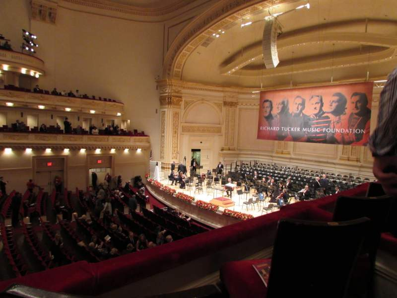 Seating view for Carnegie Hall Section Box 13 Row 2 Seat 5