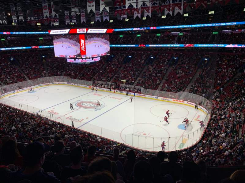Seating view for Centre Bell Section 210 Row F Seat 9