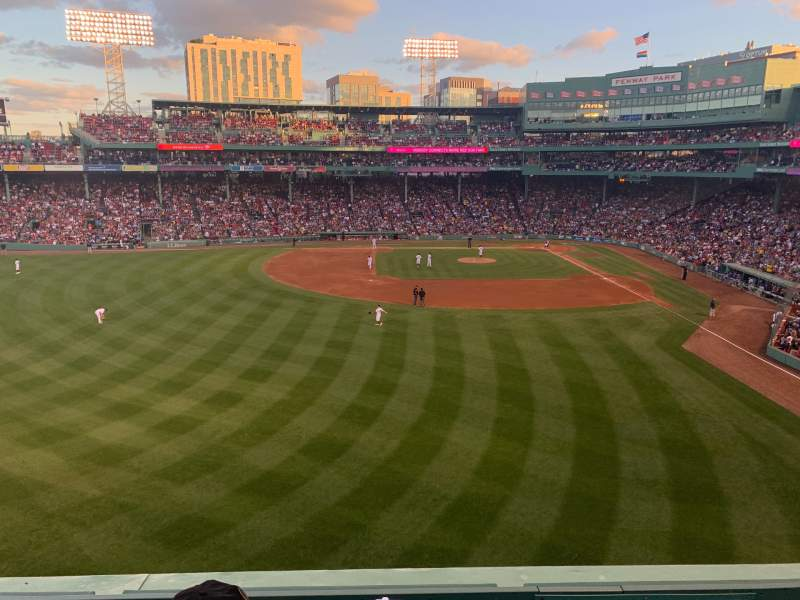 Seating view for Fenway Park Section Green Monster 4 Row 2 Seat 6