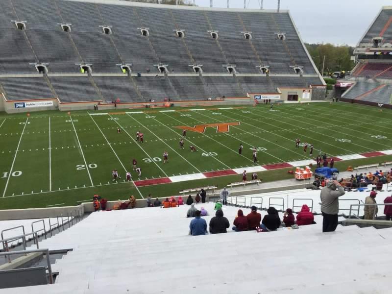 Lane Stadium, section: 6, row: XX, seat: 16