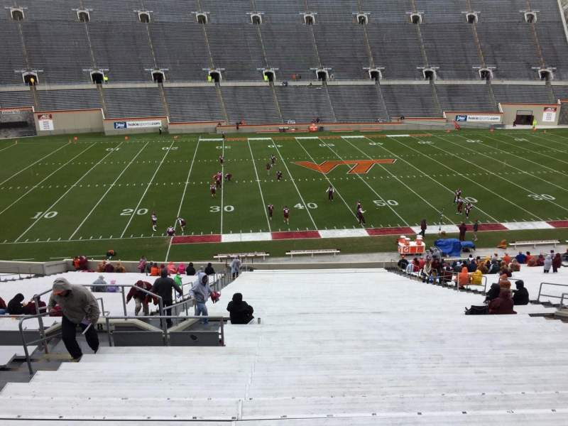 Lane Stadium, section: 8, row: CCC, seat: 14