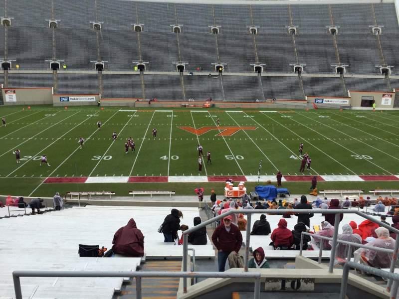 Lane Stadium, section: 10, row: TT, seat: 3