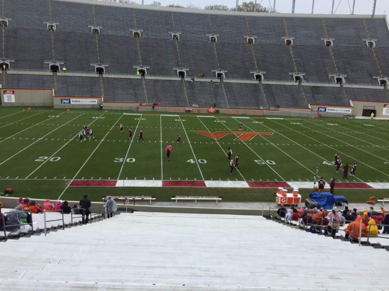Lane Stadium, section: 8, row: MM, seat: 16