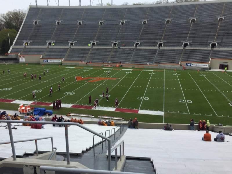 Lane Stadium, section: 14, row: SS, seat: 6