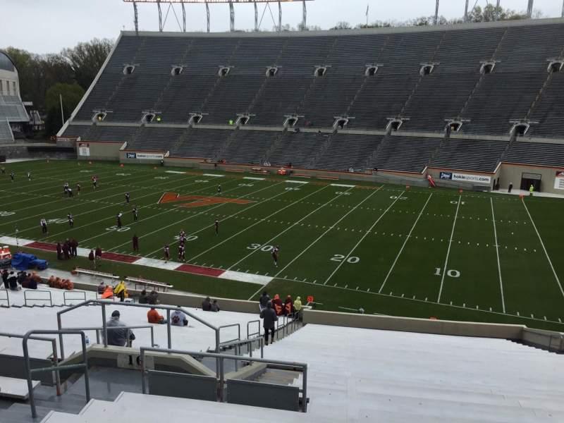 Lane Stadium, section: 16, row: XX, seat: 14