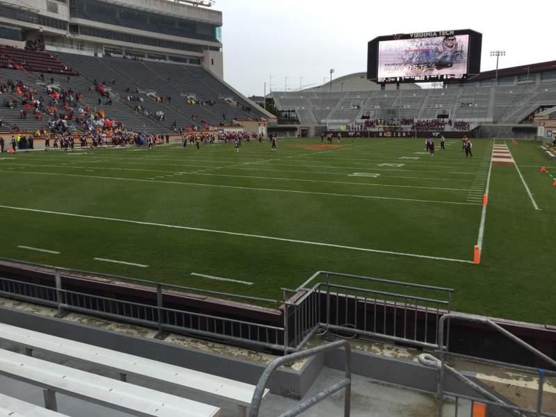 Lane Stadium, section: 101, row: F, seat: 13