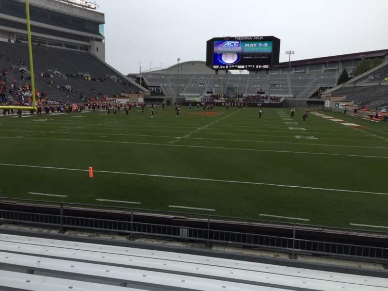 Lane Stadium, section: 102, row: H, seat: 20