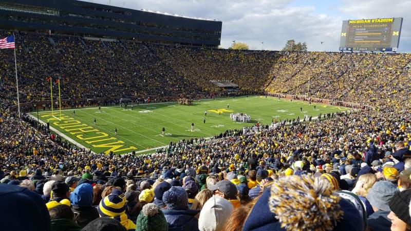 Michigan Stadium, section: 7, row: 76, seat: 34