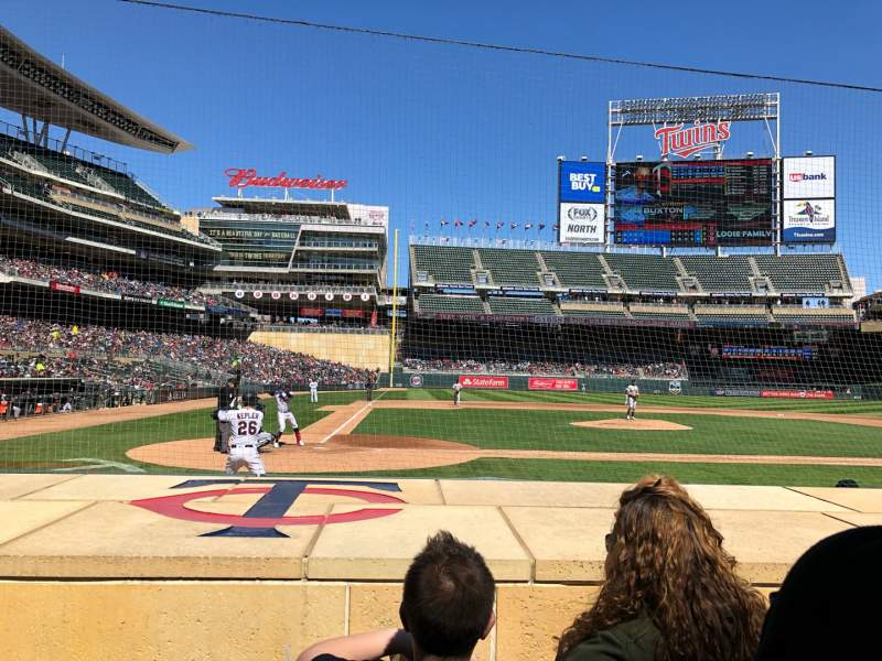 Seating view for Target Field Section 6 Row 7 Seat 9