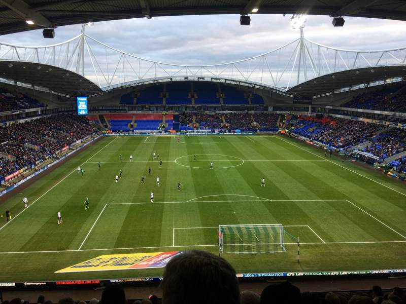 Seating view for University of Bolton Stadium Section N Row LL Seat 59