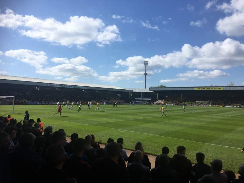 Vale Park, section: HHF1, row: G, seat: 13