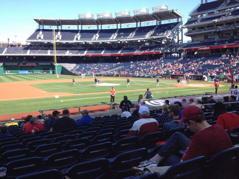 Seating view for Nationals Park Section 115 Row T