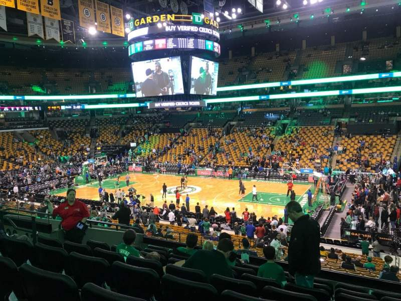 Td Garden Section Club 137 Row E Seat 6 Boston Celtics Vs Toronto Raptors Shared By Jrs362