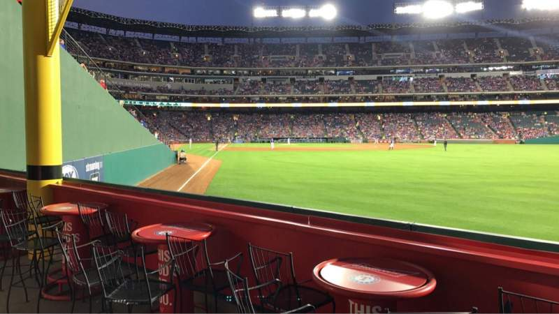 Seating view for Globe Life Park in Arlington Section 44 Row 1 Seat 8