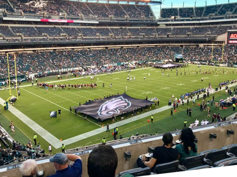 Seating view for Lincoln Financial Field Section C35 Row 5 Seat 15