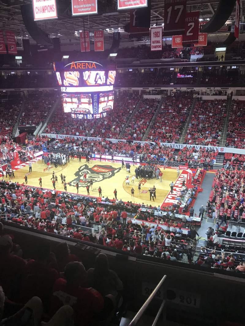 Pnc Arena Section 201 Row D Seat 22 North Carolina State