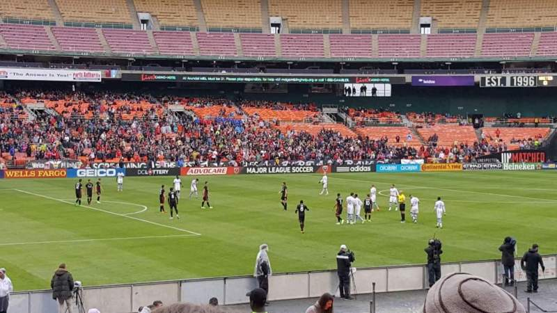 Seating view for RFK Stadium Section 212 Row 14 Seat 7