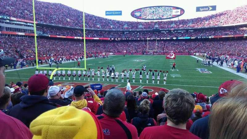 Seating view for Arrowhead Stadium Section 109 Row 15