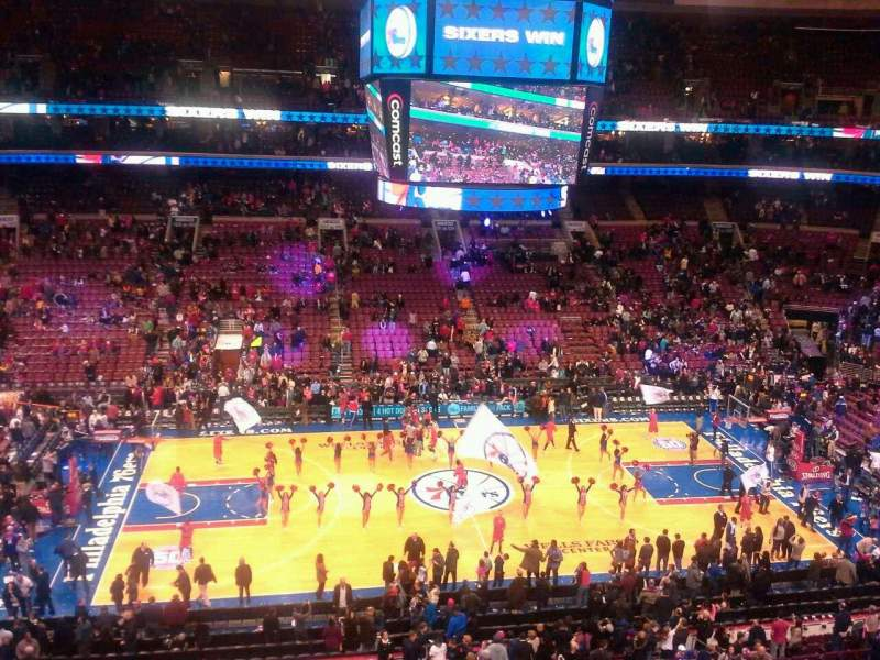 Seating view for Wells Fargo Center Section 212 Row 1 Seat 14