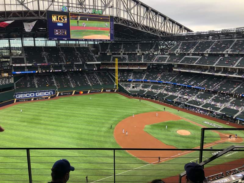 Seating view for Globe Life Field Section 303 Row 3