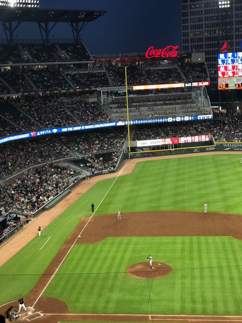 Seating view for SunTrust Park Section 320 Row 9 Seat 7