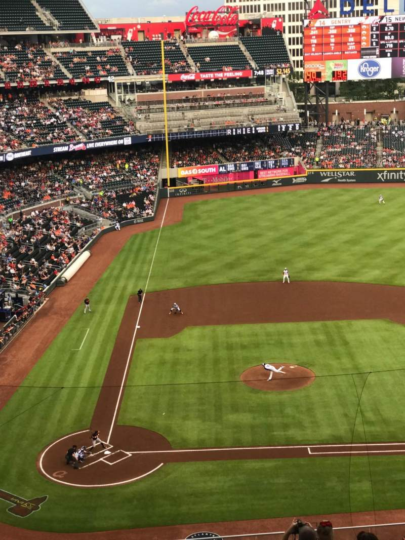 Seating view for SunTrust Park Section 322 Row 10 Seat 17