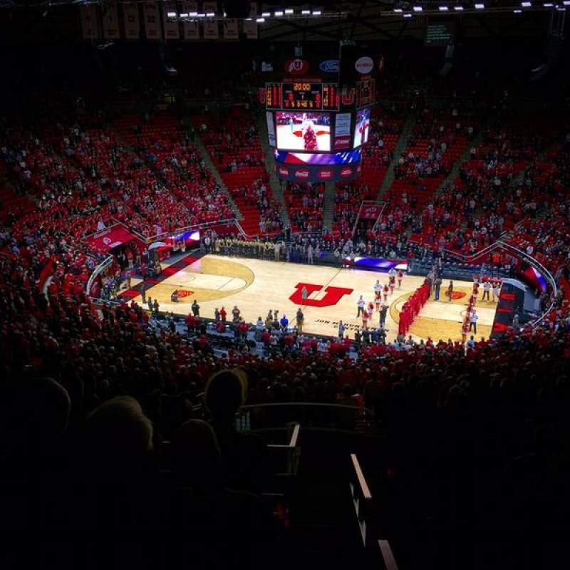 Seating view for Jon M. Huntsman Center Section ZZ Row 44 Seat 28