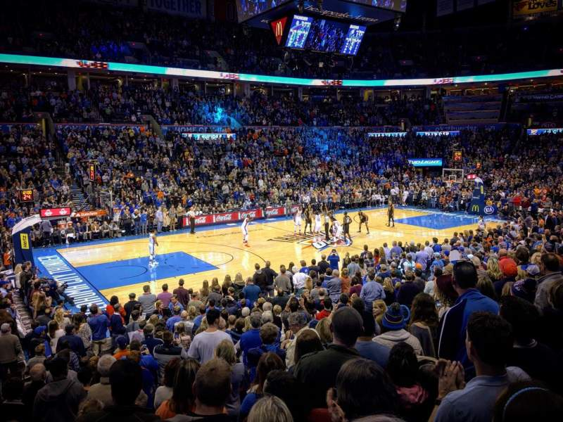 Seating view for Chesapeake Energy Arena Section 107 Row N Seat 16