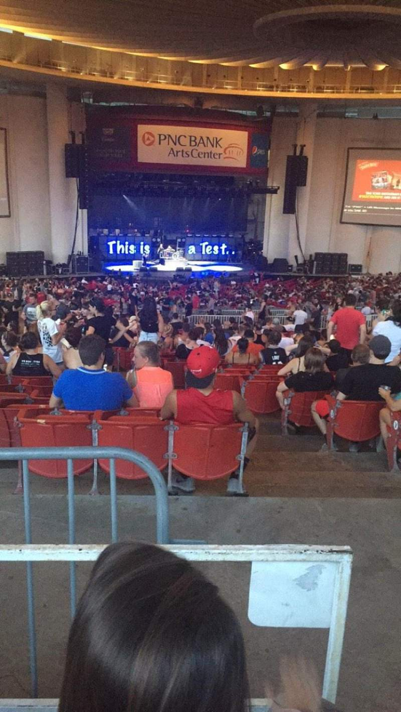 pnc bank arts center, section 404, row k, seat 105 - blink-182