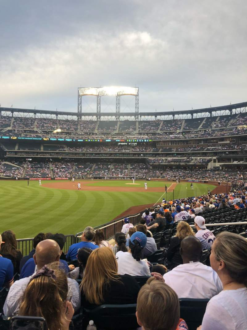 Seating view for Citi Field Section 131 Row 21 Seat 1