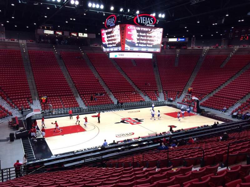 Seating view for Viejas Arena Section P Row 23 Seat 12