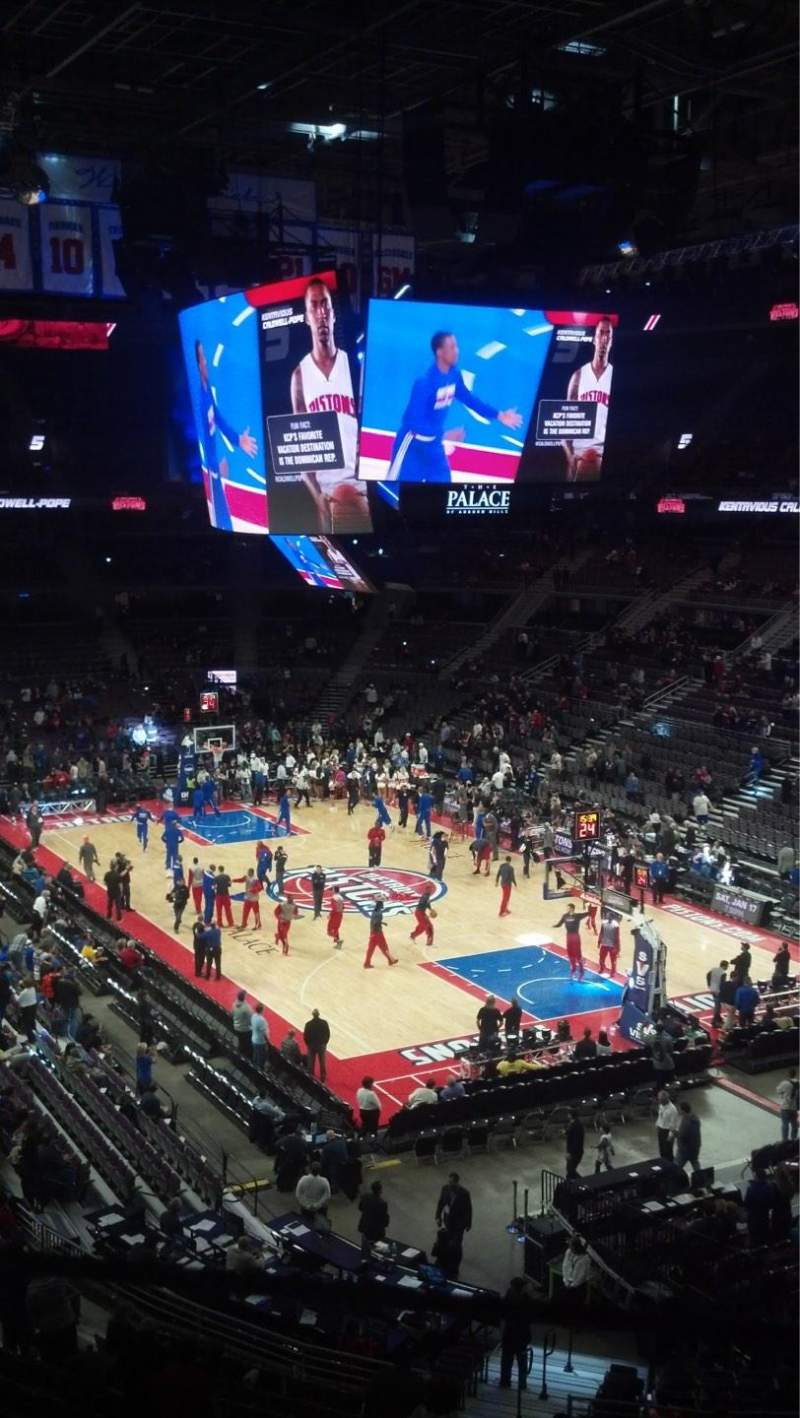 The Palace of Auburn Hills, section: 225, row: 10, seat: 2