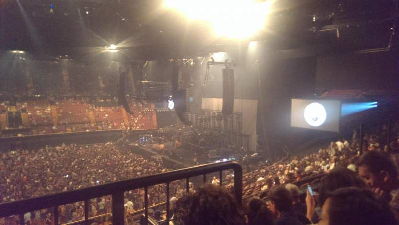 The Forum, section: 209, row: 4, seat: 1