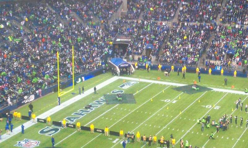 Seating view for Centurylink Field Section 309 Row 4 Seat 7